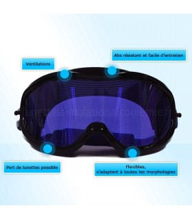 Snooze Goggle simulates fatigue in the early morning; after working all night long and also extreme fatig