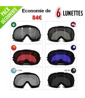 Pack de 6 lunettes de simulation. Possibil
