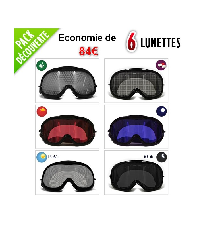 Pack 6 lunettes