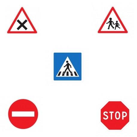 Audacieux 5 panneaux de signalisation routière ✔️ Lunettes Simulation OM-33