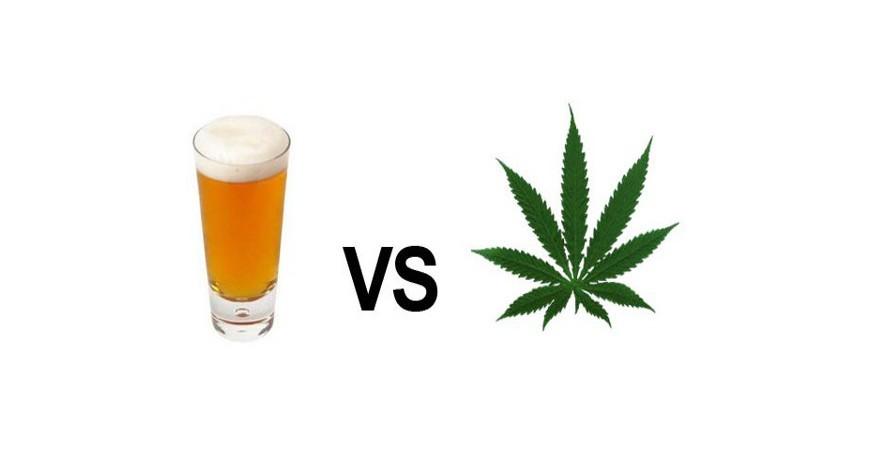 Effets comparés cannabis et alcool.